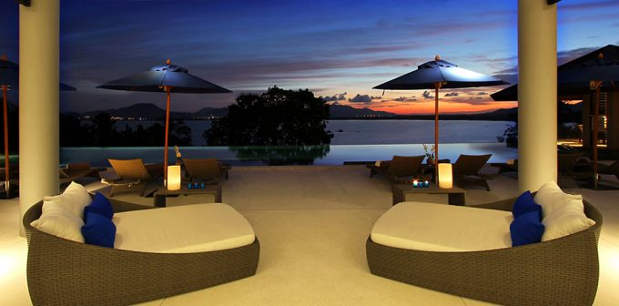 Villa Padma Lounge Room Design With Sunset View