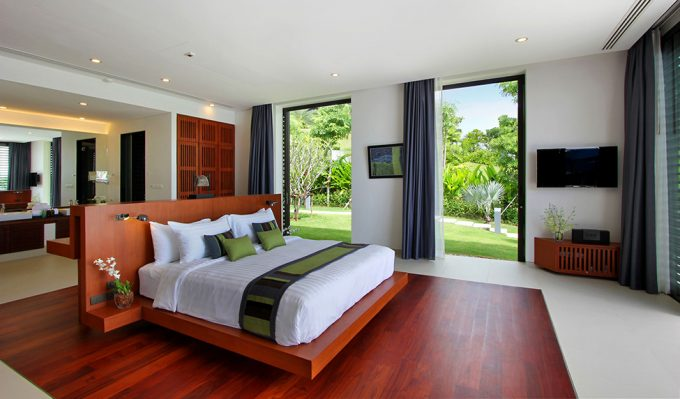 Villa Padma Luxury Bedroom Design With Breezy Open Space And Wooden Accent Decor
