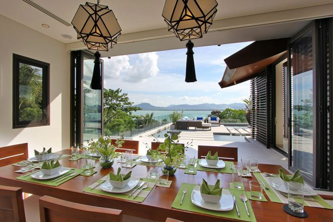 Villa Padma Open Space Dining Space Design With Stunning Sea View