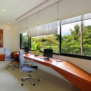 Villa Padma Small Work Space With Green Tropical View