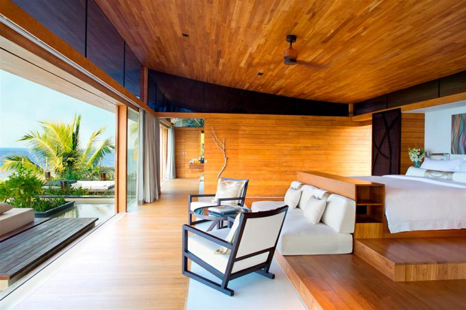 Warm Resort View With Luxury Spacy Wooden Bedroom Exquisite Villas Maldives Private Island