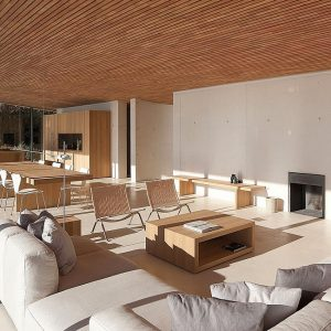 Wood Nuances In Minimalist Kitchen Design Dining Furniture To Make Warm Family Living Space