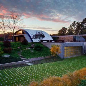 Architecture Project Arc House By  Maziar Behrooz Architecture Modern Unique House Design In East Hampton New York
