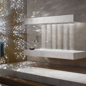 Awesome Dornbracht Horizontal Shower With Raindrop Shower With Bed Design