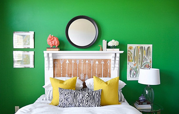 Awesome Emerald Green Bedroom With Vintage Style Custom Bedroom Design