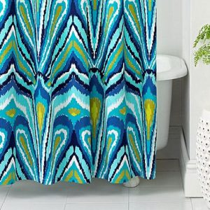 Awesome Abstract Peacock Feather Design Colorful Trina Turk Shower Curtain