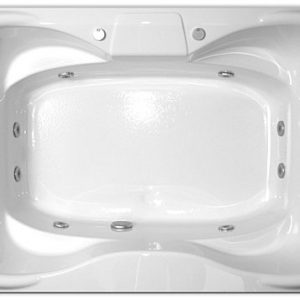 Bathtub For Two Person With Awesome Rectangular Whirlpool Tub And 8 Whirlpool Set