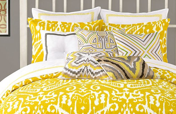 Beautiful Mustard Yellow Ikat Bedding Modern Bedding With Indonesian Bedding Design