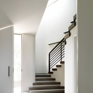 Beautiful Staircase Design With Bright Naturl Light Exposure Modern Interior Decor