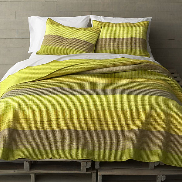 Beautiful Yellow Green Striped Bedding Modern Bedding Style For Your Bed Remodeling