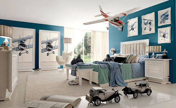 Beautiful Aeroplane Theme Inspired Kids Bedroom