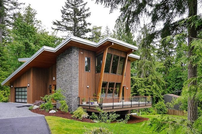 Beautiful Architecture Modern Green House Design Moderncottage In Squak Mountain Washington