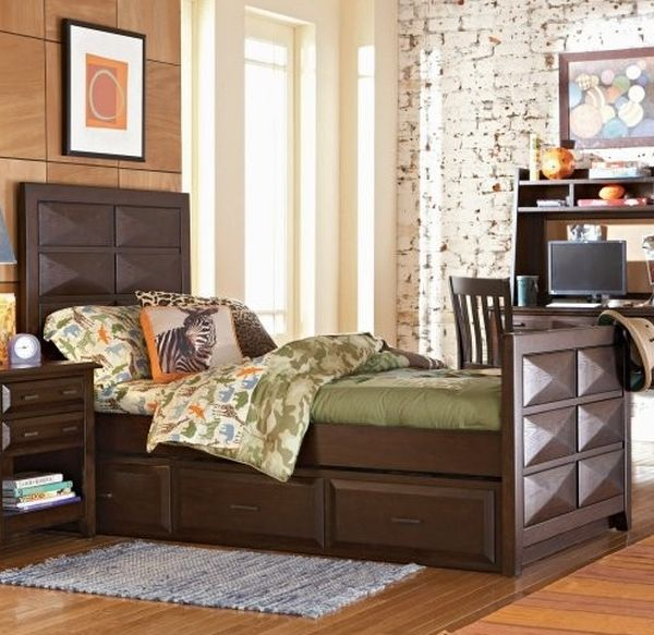 Beautiful Rustic Wooden Trundle Bed Design Opus Designs Treverton Trundle Bed Perfect For Contemporary Kids Bedroom
