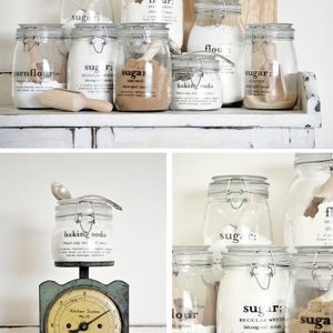 Beautiful Storage Design With Glass Canister Pantry Storage