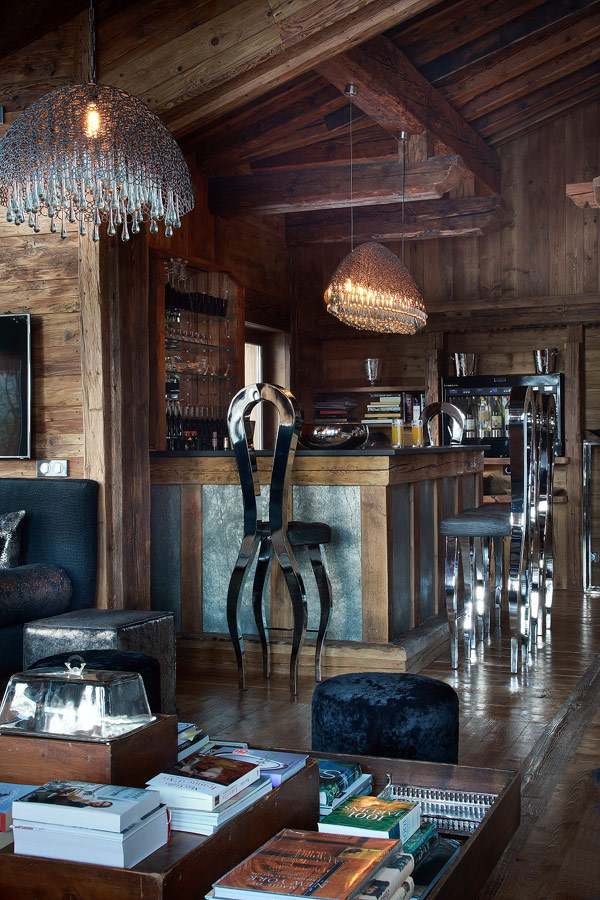 Beautiful Wooden Chalet Interior With Rustic Wooden Interior Style