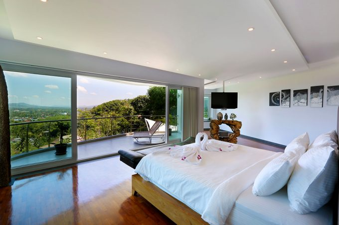 Breezy Bedroom Design With Open Space Design And Comfort White Bed Villa Beyond Interior Design