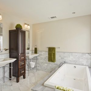 Classic Bathroom Remodeling In White And Elegance