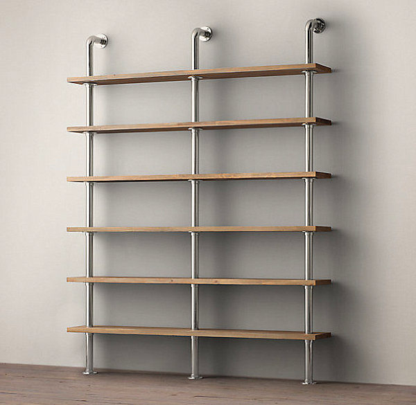 Compact Storage With Wall Shelving System With Industrial Style