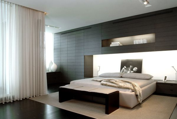 Contemporay Bright Beadboard And Refined Minimalist Bedroom With A Bench At The Foot Of The Bed That Fits In Seamlessly By Trend Design + Build