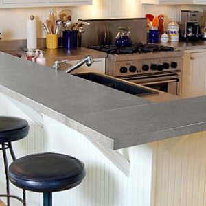 Cool Stainless Steel Countertops And Rustic Barstool