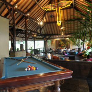 Cool Lounge Space Design Villa Kacang 2nd Floor Living Decor With Pool Table And Comfy Sofa Also Open Space Design