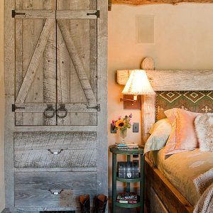 Cozy Rustic Bedroom Design With Vintage Bedand Rustic Wooden Cabinet