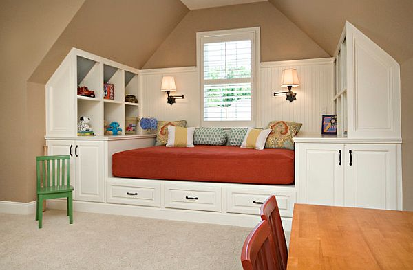 Creative Child Nook Bedroom Modern Window Bed Design