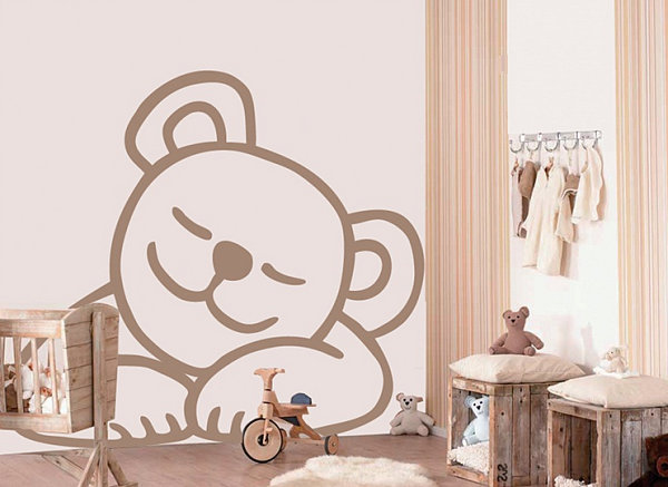 Cute Sleepy Bear Wall Decal For The Kid's Room Makeover