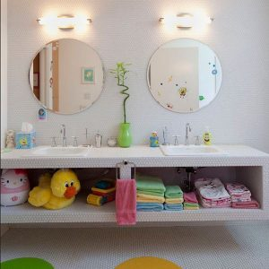 Cute Vanity Design For Kids Amusing Accessories Turn This Otherwise Modern Bathroom Into A Fun Place For Kids