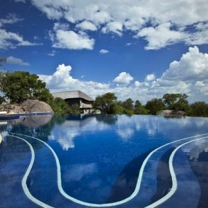 Design Lodge Bilila Amazing Swimming Pool Design With Blue Water And Exotic Africa Forest View