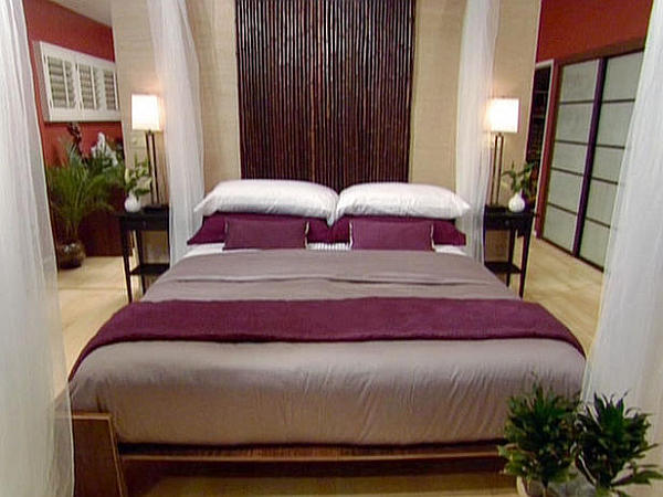 Exotic Bamboo Platform Bed With Bamboo Headboard Design From HGTV