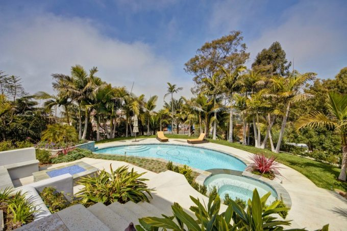 Exterior La Jolla Project With Tropical Landscaping Design Beautiful Pool Decor Ideas