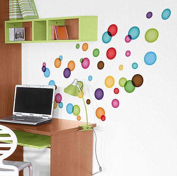Floating Bubbles Wall Decals Modern Kid's Room Decor