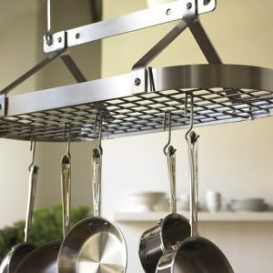 Hanging Storage Design With Oval Pot Rack
