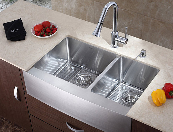 Interesting Sink With A Chrome Kitchen Faucet Kitchen Accessories