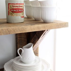 Kitchen Wall Shelving Decor With Reclaimed Wood Hanging Shelves