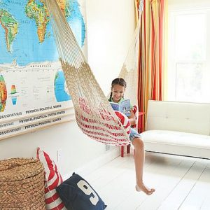 Loft Kids Bedroom Decor With Hammock Room With Playful Element For The Kid's