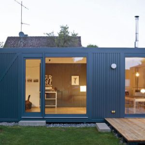 Lovely L House Shape Froom Recycled Container And Sustainable Materials