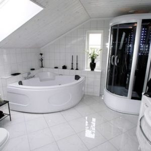 Luxury Black And White Bathroom Design With Finest Material