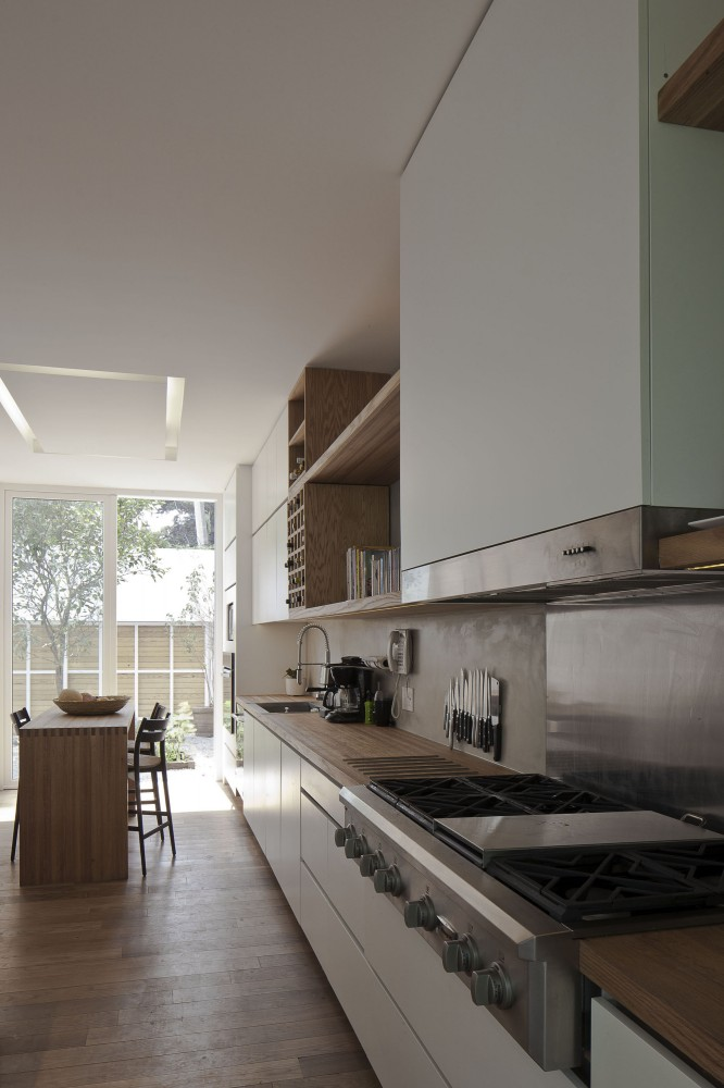 Modern Appliances In Kitchen Neutral Colours And Wood