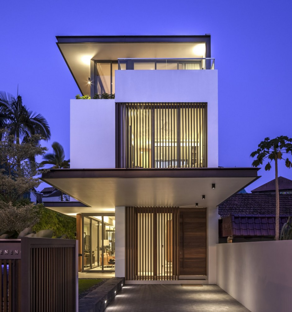 Architecture: Narrow House Tips And Mosern House Design In Singapore