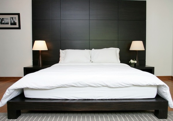 Platform Beds Black Simple Bed Design For Minimalist Bedroom Design