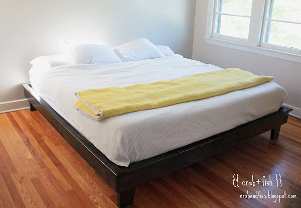 Practically Bed Design DIY Platform Bed With King Size Mattress From Ana White Com