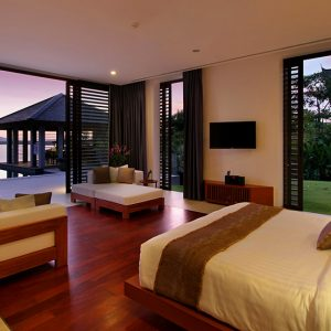 Relaxing Bedroom With Comfortable Bedroom Design And Great Sea View