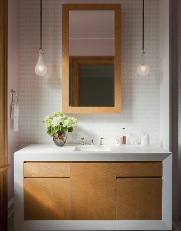 Rustic 2 Bulb Pendant Lam Vanity With Contemporary Bathroom Vanity Design Is Perfect For The Chic Home