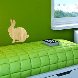 Simple Bunny Wall Decal Kid's Room Makeover