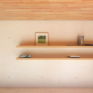 Simple Shelves In Open Space Area