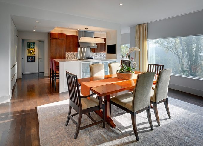 Six Person Dining Area Capacity With Minimalist And Simple Design