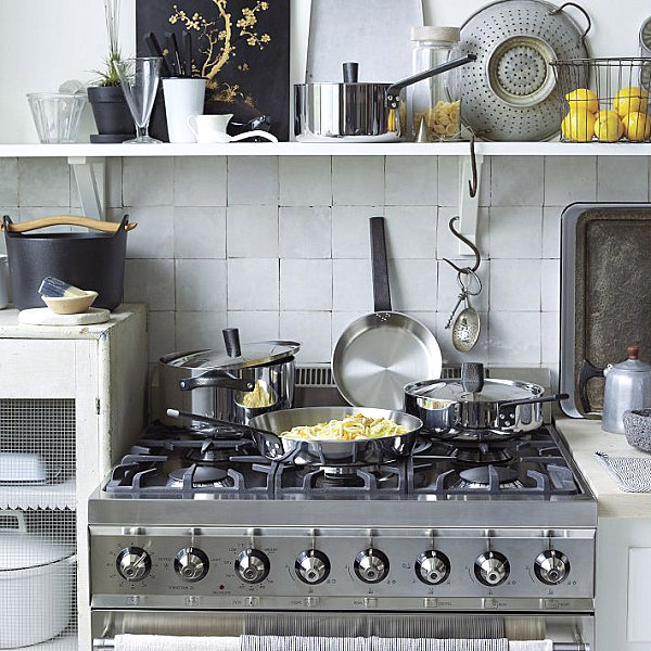 Smart Artful Vignette In An Eclectic Kitchen Wall Shelving Decor