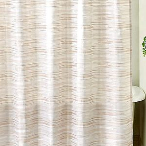 Soft Striped Shower Curtain With Unmistakably Retro Look